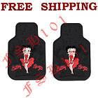 Set Cartoon Skyline Red Dress Betty Boop Car Truck Rubber Floor Mats