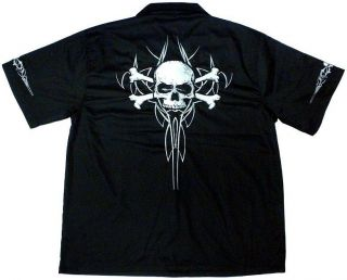 Skull & Crossbones Work Shirt, Dragonfly, M L XL 2X 3X