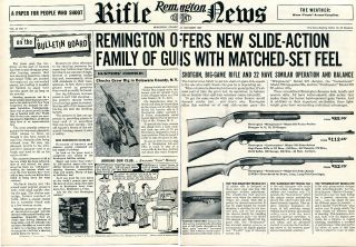 1957 Remington Rifle News 870 Wingmaster 760 Gamemaster & 572 2 Page