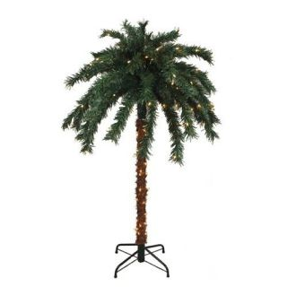 Tropical Outdoor Summer Patio 6 Palm Tree With 140 Clear Mini Lights