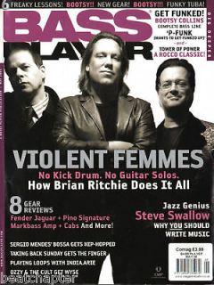 BASS PLAYER Guitar Magazine 5/2006 Violent Femmes Steve Swallow Bootsy