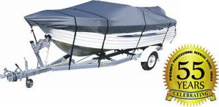 NEW 4 Seasons WATERPROOF Boat Cover 17   19 GRAY 600 DENIER