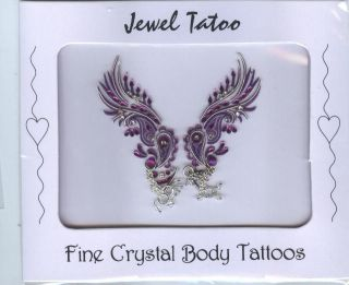 VAJAZZLE SEXY TATTOO HOLIDAYS 2011   PINK/SIL/PURPLE /BLACK FREE FAST