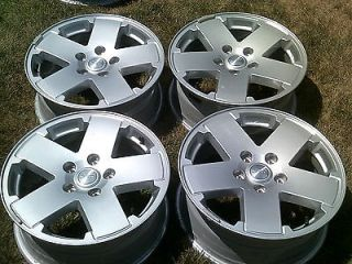 4x4 JK SAHARA 2012 OEM FACTORY 18 WHEELS SILVER ALLOY MAG RIMS
