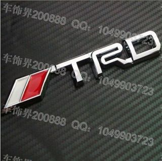 3D Silver Logo Toyota TRD Chrome Racing Emblem Car Trunk Badge Sticker