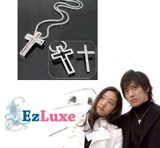 Korean Drama Tree of Heaven Cross Couple Necklace Set