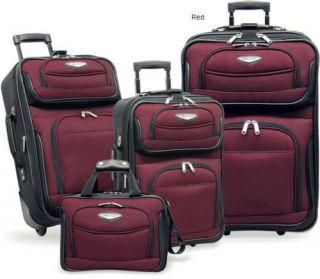 Travelers Choice Amsterdam 4 piece Luggage Set   RED
