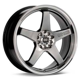 ENKEI EV5 RIMS HYPER BLACK 18x7.5 5x100 5x114.3 +45 (4 NEW WHEELS)