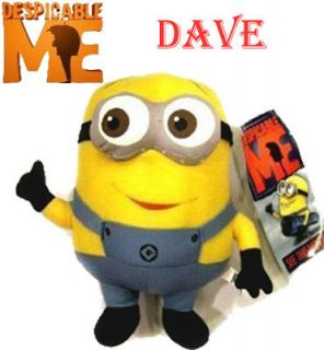 Despicable Me Minions 3D eye DAVE Plush Stuffed Animals Xmas Party