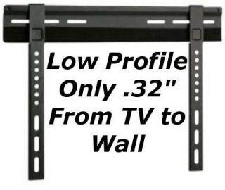 Ultra Slim Low Profile Fixed VESA TV LCD LED Plasma Wall Mount Bracket