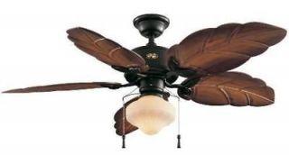 Hampton Bay Nassau Indoor / Outdoor 52 inch Tropical Ceiling Fan with