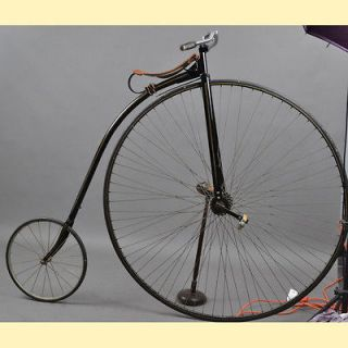 High Wheel Bike Professionally restored Beautiful, Must See