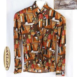 vtg 70s polyester shirt, Mens Vintage Clothing