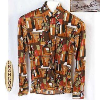 vtg 70s polyester shirt, Mens Vintage Clothing