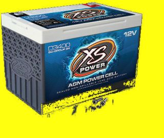 Cycle 12 Volt 12V AGM Power Cell Battery D3400 Brand New 3300 amp