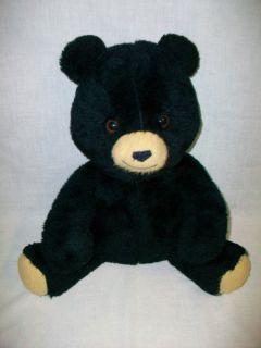 Barney the Banco Black Bear Teddy Bear by Animal Fair