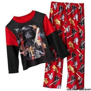 Lego STAR WARS Boys 4 6 8 10 12 Pjs Set PAJAMAS Pants Shirt Top VADER