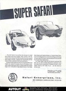 1964 SuperSafari Dune Buggy VW Corvair Kit Car Brochure
