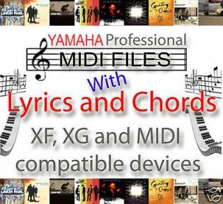 000 MIDI FILES WITH CHORDS LYRICS GM GM2 XG XF