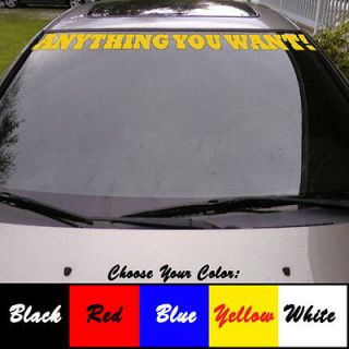 Customized Windshield Text Vinyl Sticker Car Boat Tablet Laptop Decal