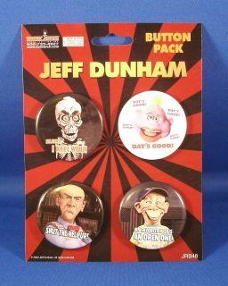 Jeff Dunham Achmed Peanut Walter Bubba J 4 Button Pack Pin Set HT