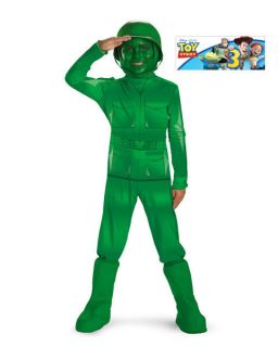 Boys Deluxe Toy Story 3 Green Army Man Costume