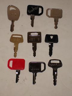 JOHN DEERE TRACTOR & HEAVY EQUIPMENT KEY SET 9 KEYS