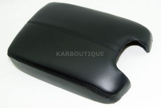 ACCORD BLACK SYNTHETIC LEATHER CONSOLE LID ARMREST COVER (Fits Honda