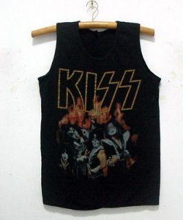 New KISS band singlet tank top shirt vintage punk rock tour 38 L