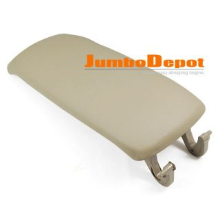 BEIGE LEATHERETTE CENTER CONSOLE ARMREST COVER LID FOR AUDI A6 01 02