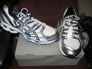 Asics Mens GEL NIMBUS 12 Running Shoes White/Black/Royal Size 15