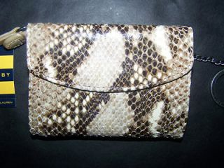 New Ralph Lauren Rugby Womens Faux Snake Skin Leather Wallet