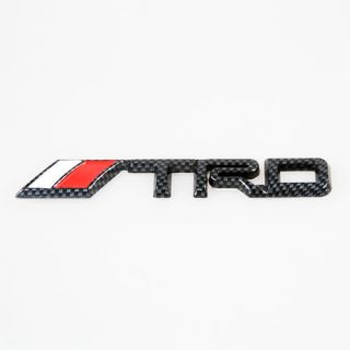 New 3D Car Decor Decal Badge LOGO Emblem For TOYOTA TRD LOGO Black