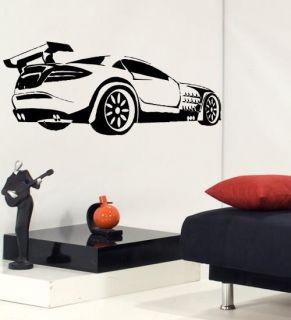 Race Sport Car Boys Room Wall Decor Vinyl Decal Sticker