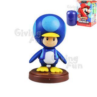 Furuta 2012 Super Mario Bros Baby Penguin TOAD Action Figure Wii vol 3