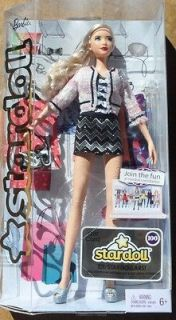 Nude Long Blonde Side Ponytail Model Muse Basics Barbie w/Stand