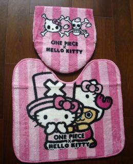 2012 Unique One Piece x Hello Kitty Bathroom Mat & Toilet Set Seats