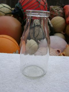 SMALL CLEAR MILK GLASS BOTTLE (B315)