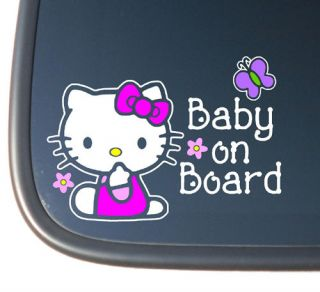 Hello Kitty BABY ON BOARD Vinyl Car Decal Sticker