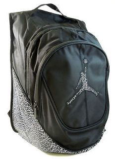 NIKE AIR JORDAN KIDS OR ADULT SCHOOL BACKPACK JUMPMAN BLACK WHITE