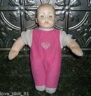 VINTAGE ALEXANDER 1977 BABY GIRL DOLL PLUSH SQUEAKS HTF