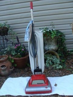 Vintage Hoover Guardsman Upright Vacuum chrome & more WORKS RETRO