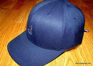 Kangol Navy Blue Wool Flexfit Baseball Cap 8650BC