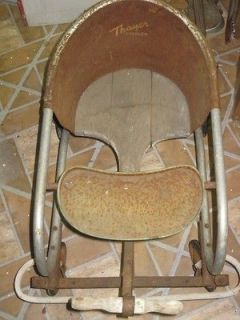 Vintage Metal/Wood Thayer Toddler Baby Walker/Strolle​r 1930s/40s