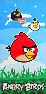 Rovio Angry Birds Beach/ Bath/ Pool Towel  Red, Black and White Birds