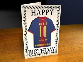 FC BARCELONA FOOTBALL CLUB   MAGNET BIRTHDAY CARD