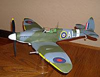 Spitfire Mk.1X Easy Built #LC01 Balsa Wood Model Airplane Kit