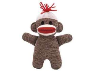 Mini Brown SOCK MONKEY Baby Plush Doll Classic Toy
