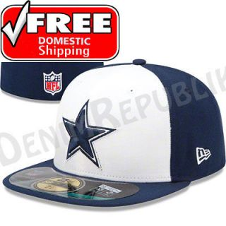 DALLAS COWBOYS   Official NFL Sideline Cap Fitted Hat Navy White