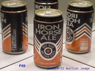 1992 DAYTONA BEACH BIKE WEEK IRON HORSE ALE EVANSVILLE BREWING 47710
